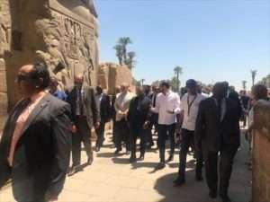 رئيس دولة موزمبيق يزور معبد الأقصر - اتفرج على الحلاوة