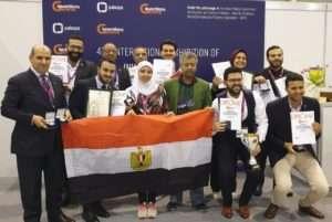 الفريق المصري يحصد الذهب والفضة والبرونز بمعرض جنيف الدولي 2019