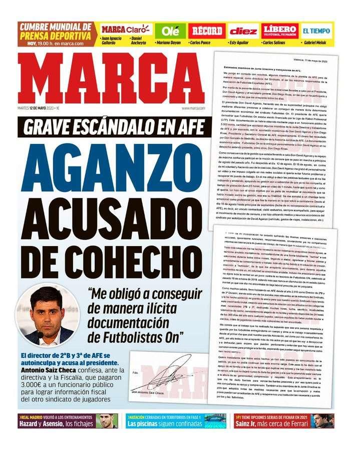 عودة الحياة للكرة الاسبانية تتصدر اهتمام الصحف الرياضية