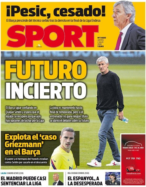 اقتراب الريال من حسم الدوري الاسباني يتصدر الصحف الرياضية
