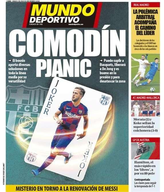 ضياع الدوري الاسباني من برشلونة يتصدر الصحف الرياضية