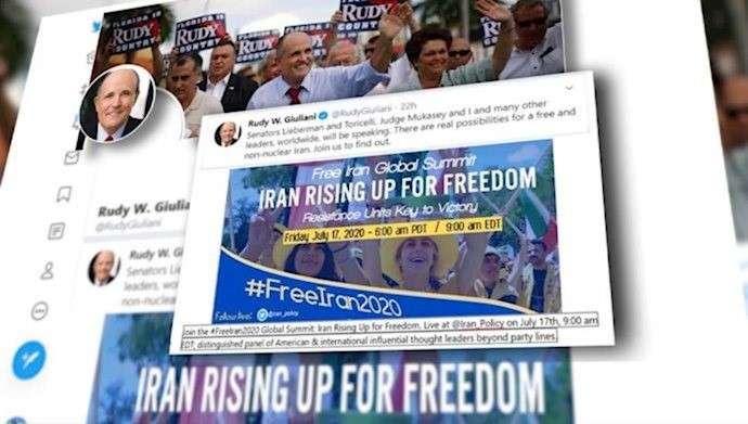 """رودي جولياني """" محامي ترامب """" يعلن دعمه للمؤتمر العالمي من أجل إيران حرة"""