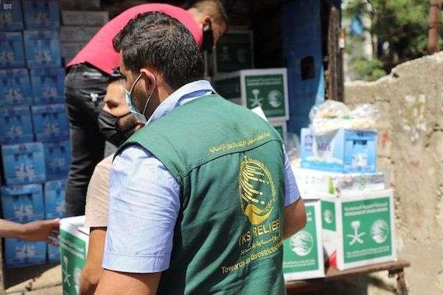 مركز الملك سلمان يقدم مواد غذائية عاجلة للمتضررين من انفجار مرفأ بيروت