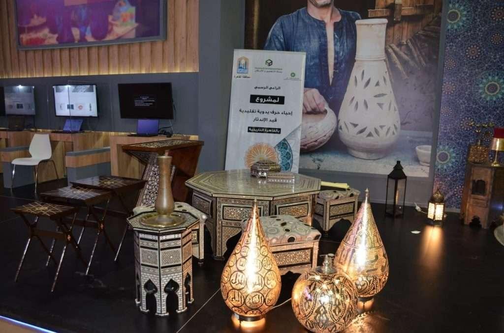 التعمير والإسكان يشارك في رعاية معرض تراثنا للحرف اليدوية .. بالصور