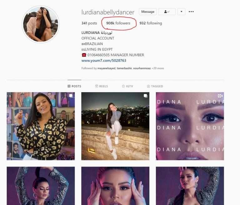 البرازيلية لوردينا فجرت إنستجرام - 900 ألف متابع ولسه