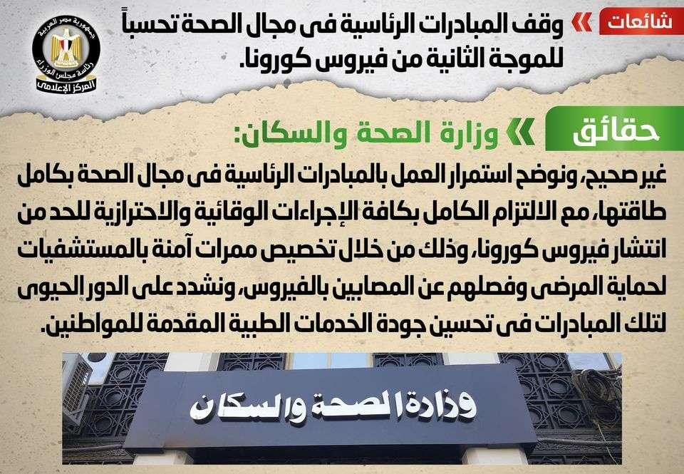 كورونا مش هيعطلنا.. المبادرات الرئاسية في مجال الصحة شغاله