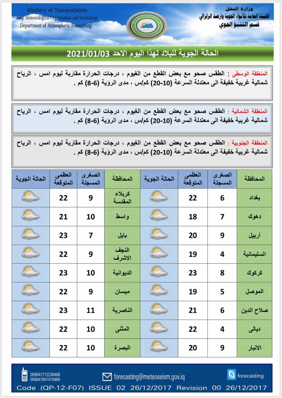 الطقس العراقي