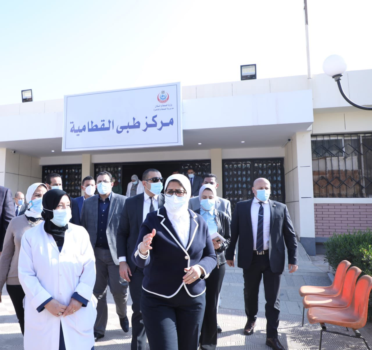 بالصور.. وزيرة الصحة تتفقد مركز طبي القطامية