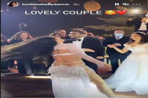 شاهد - لوردينا تتحرش بالعريس في ليلة الدخلة امام المعازم