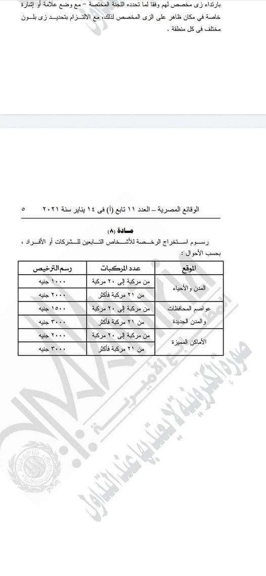 سايس العربيات بيه و باشا بالقانون.. حسب المساحة