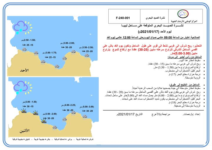 الأمطار في ليبيا