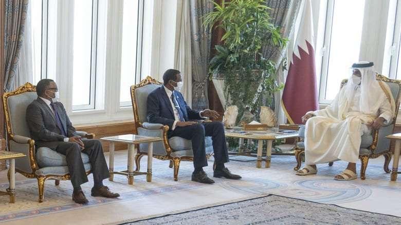 أمير قطر يستقبل حميدتي لتعزيز العلاقات.. صور