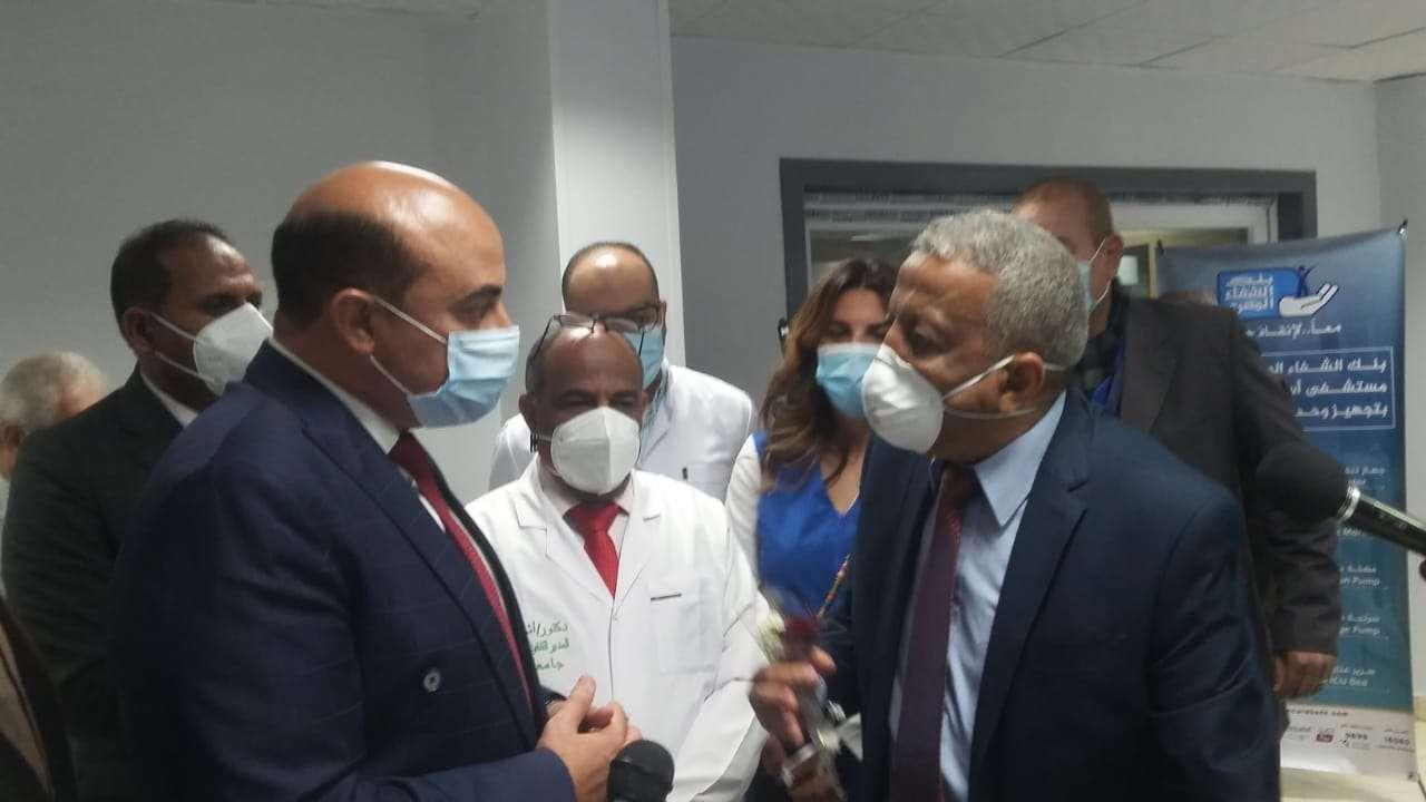 افتتاح وحدة العناية المركزة بالمستشفى الجامعي بأسوان.. مبرووك.
