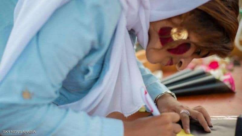 بائعة ورد في السودان