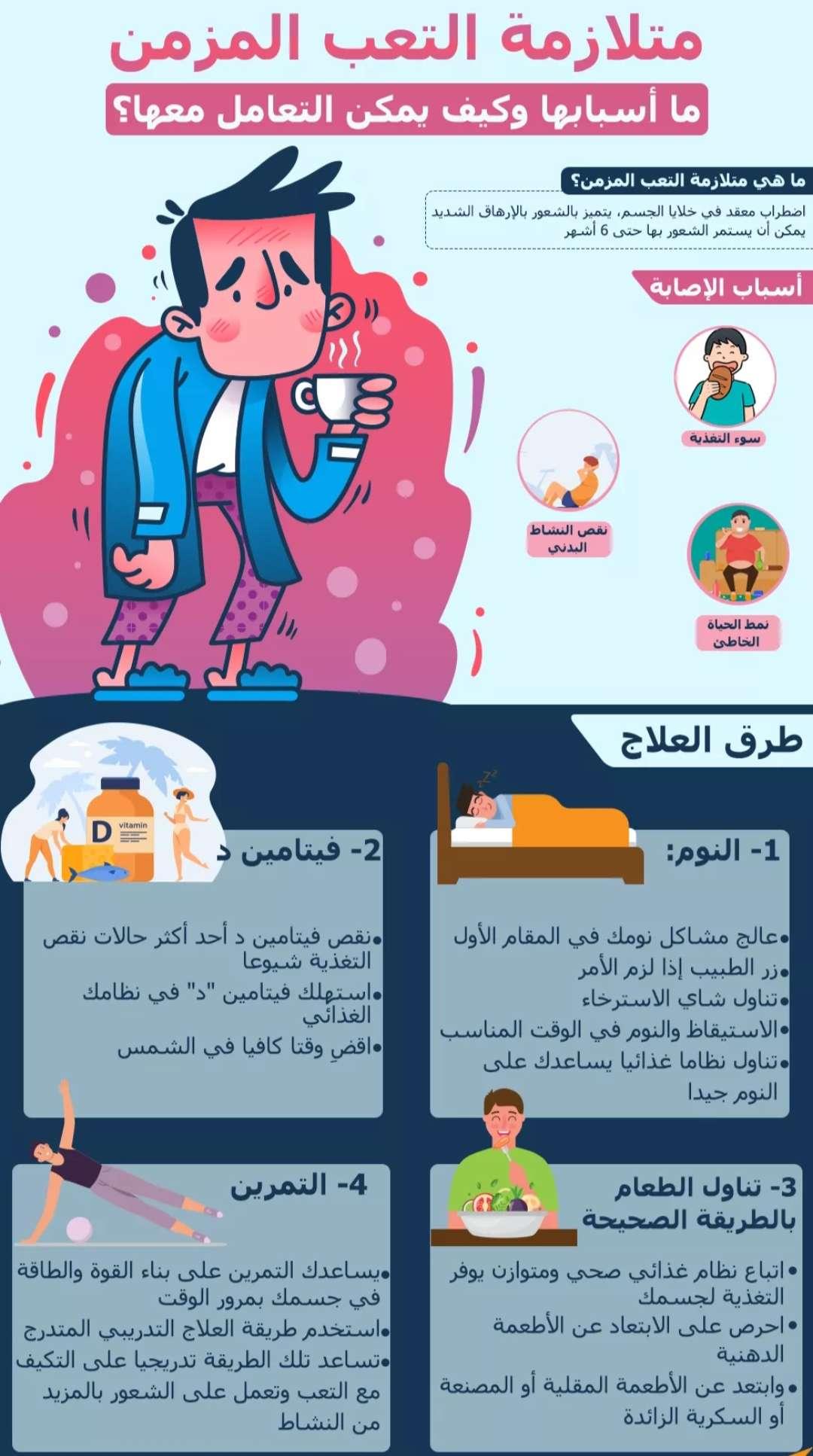 اهم 5 طرق لعلاج متلازمة التعب المزمن