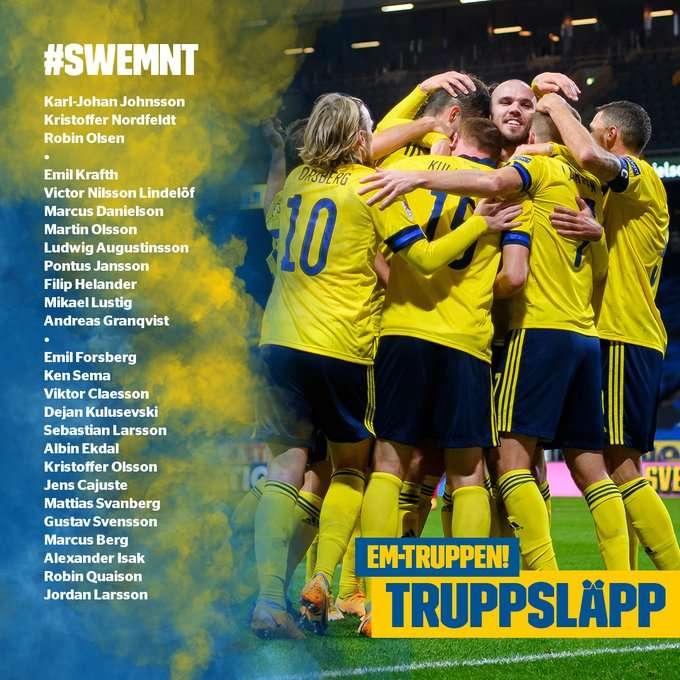 بدون السلطان.. إعلان قائمة السويد في يورو 2020