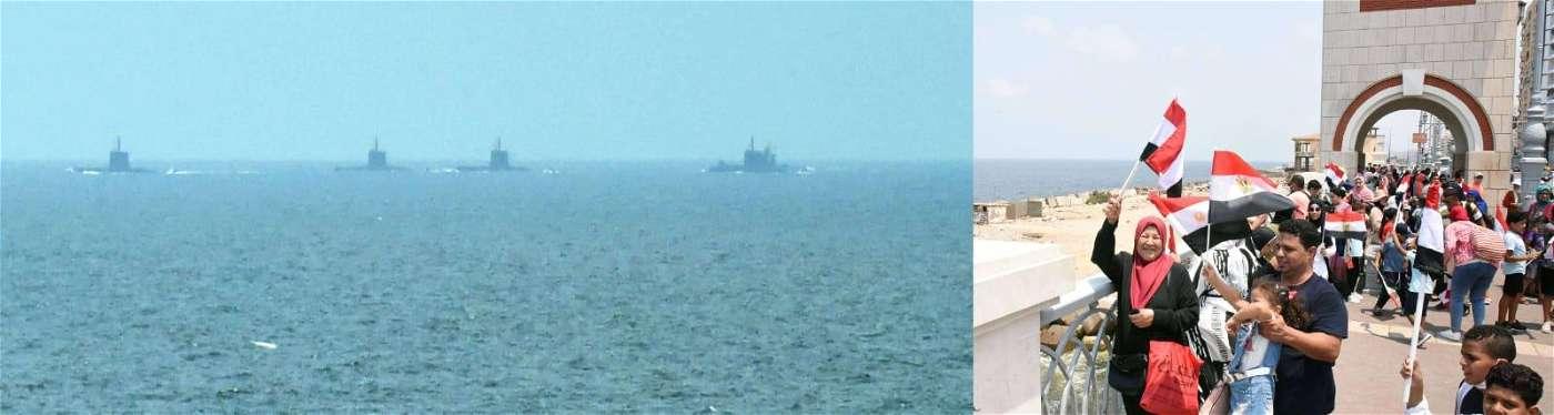 صور وصول الغواصة «S-44» الألمانية إلى قاعدة الإسكندرية