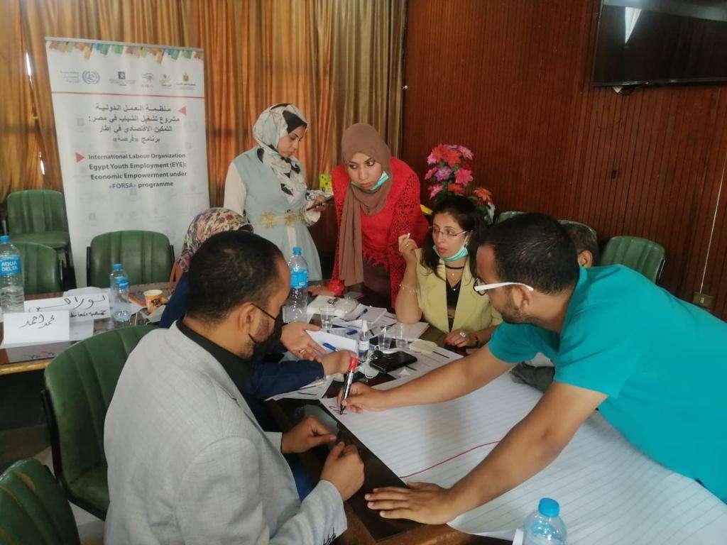 منظمة العمل الدولية تنتهي من ورشة بناء قدرات الجمعيات الأهلية بأسيوط