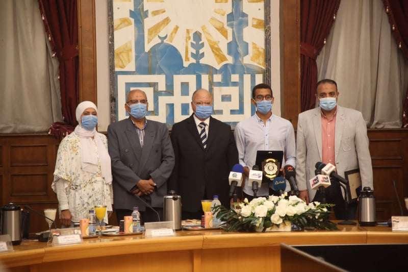 بالصور- محافظ القاهرة يكرم أبطال مصر فى أولمبياد طوكيو