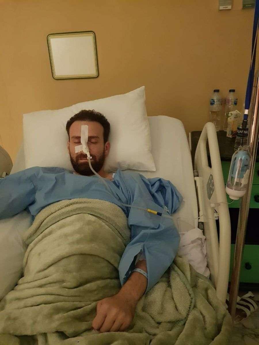 شاهد أول صورة للفنان نضال الشافعي بعد استئصال القولون