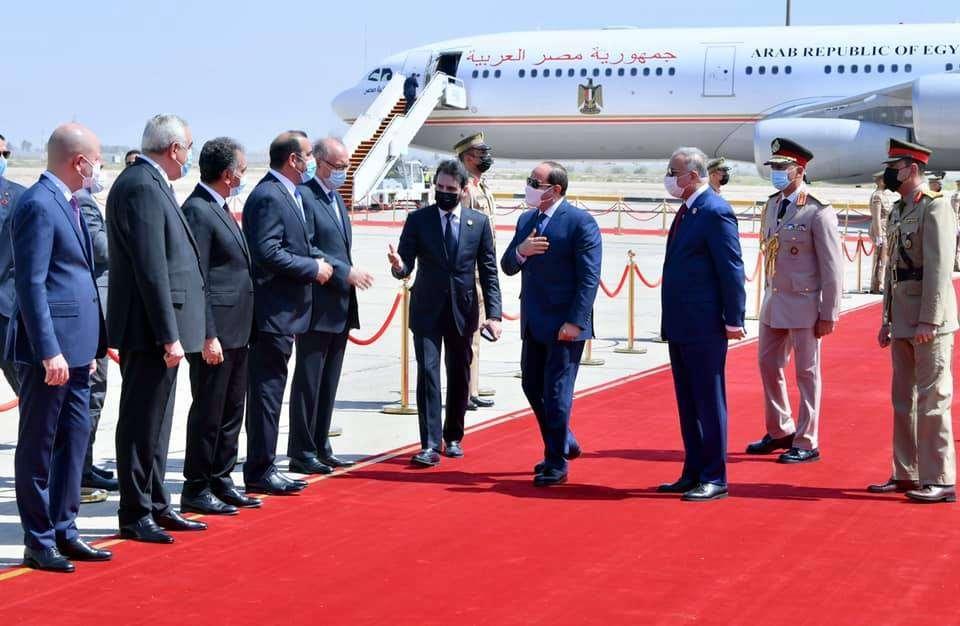 صور زيارة الرئيس السيسي إلى العراق
