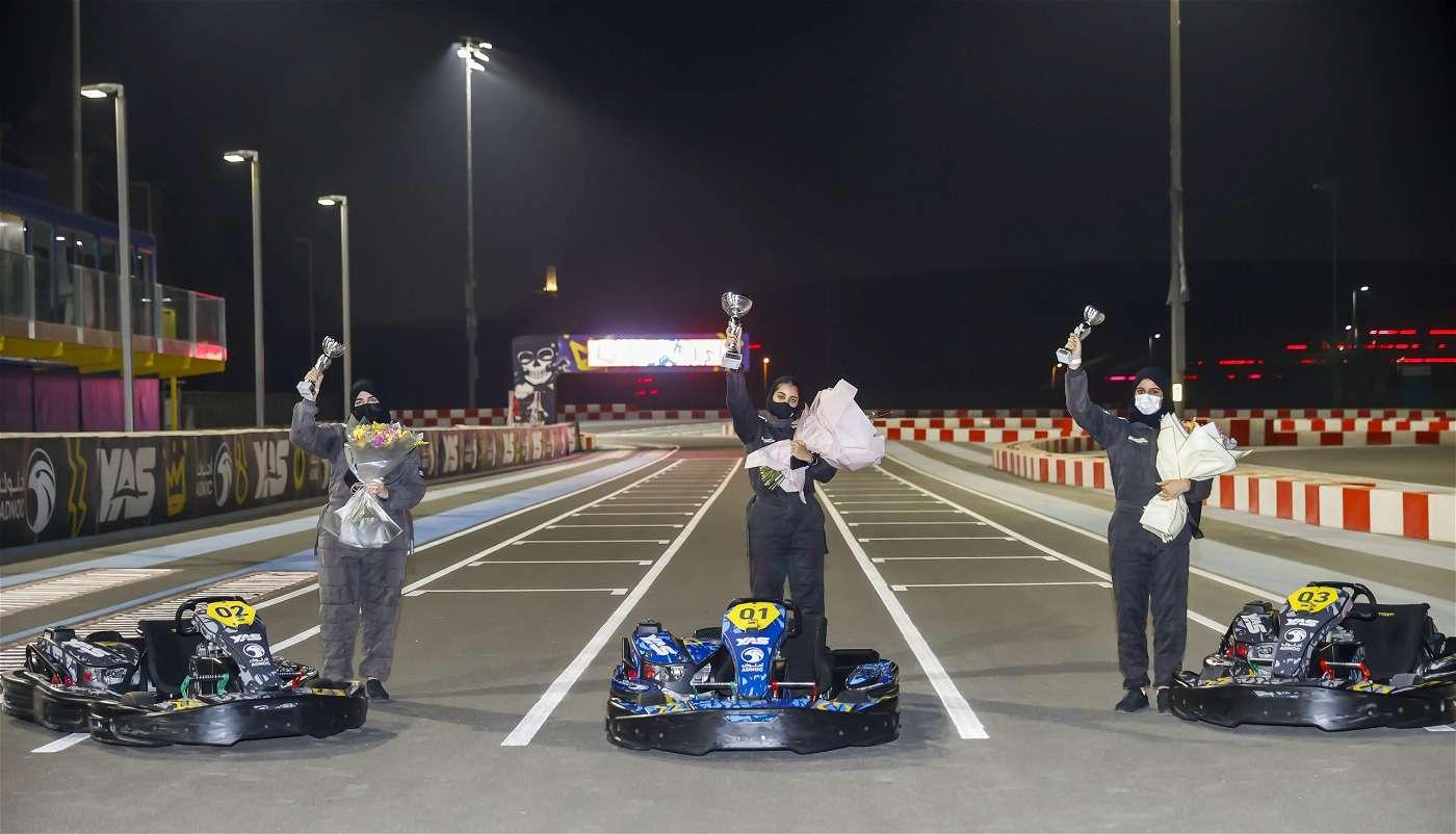 حنان البادي تفوز ببطولة كأس الفراشة للكارتينج وسط أجواء تنافسية ودية