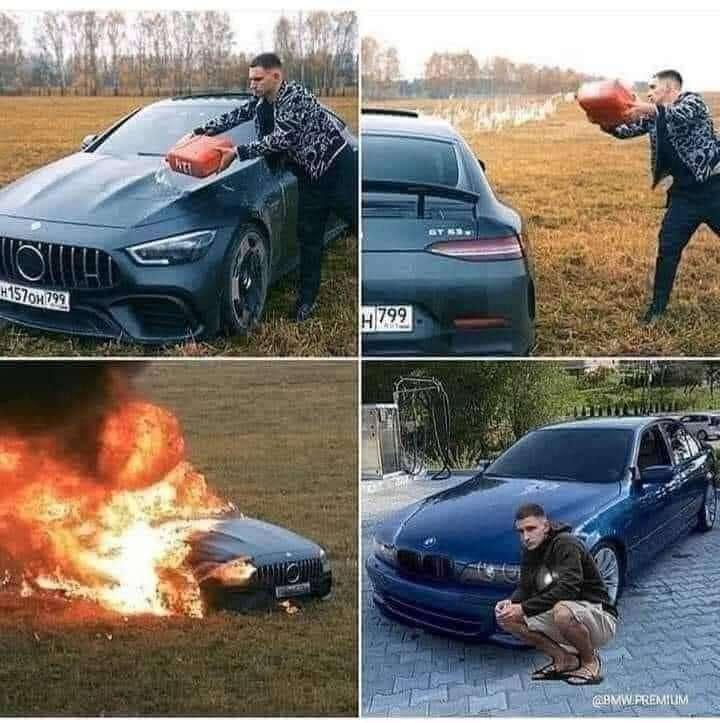 هذا الشخص حرق سيارته انتقاما من التوكيل: وتحول إلى يوتيوبر