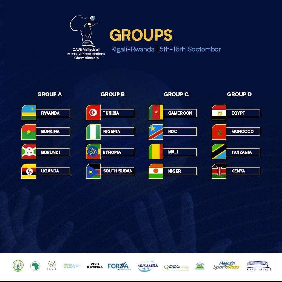 مصر في المجموعة الرابعة بكأس الأمم الإفريقية للطائرة
