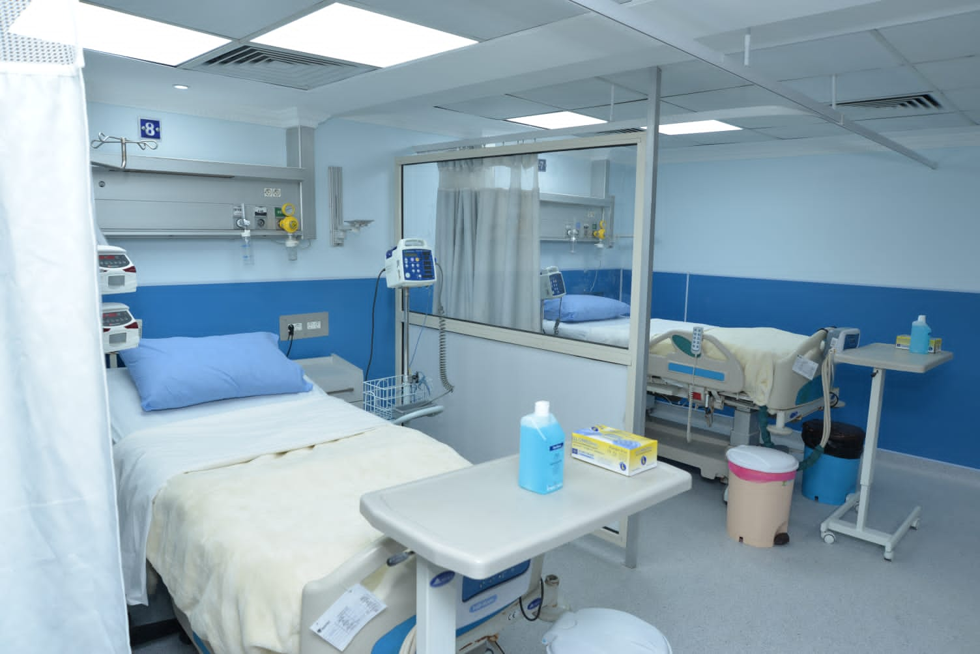 اتفرج على تجديد وحدة الرعاية المركزية بمستشفي مصر للطيران