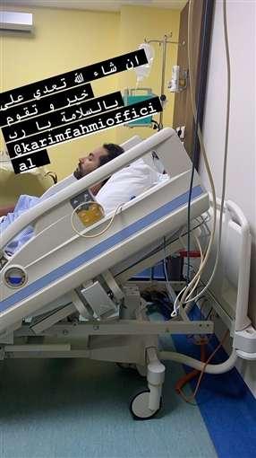 عاجل بالصور - كريم فهمي يتنازع الموت بعد الإصابة بجلطة في الرئة