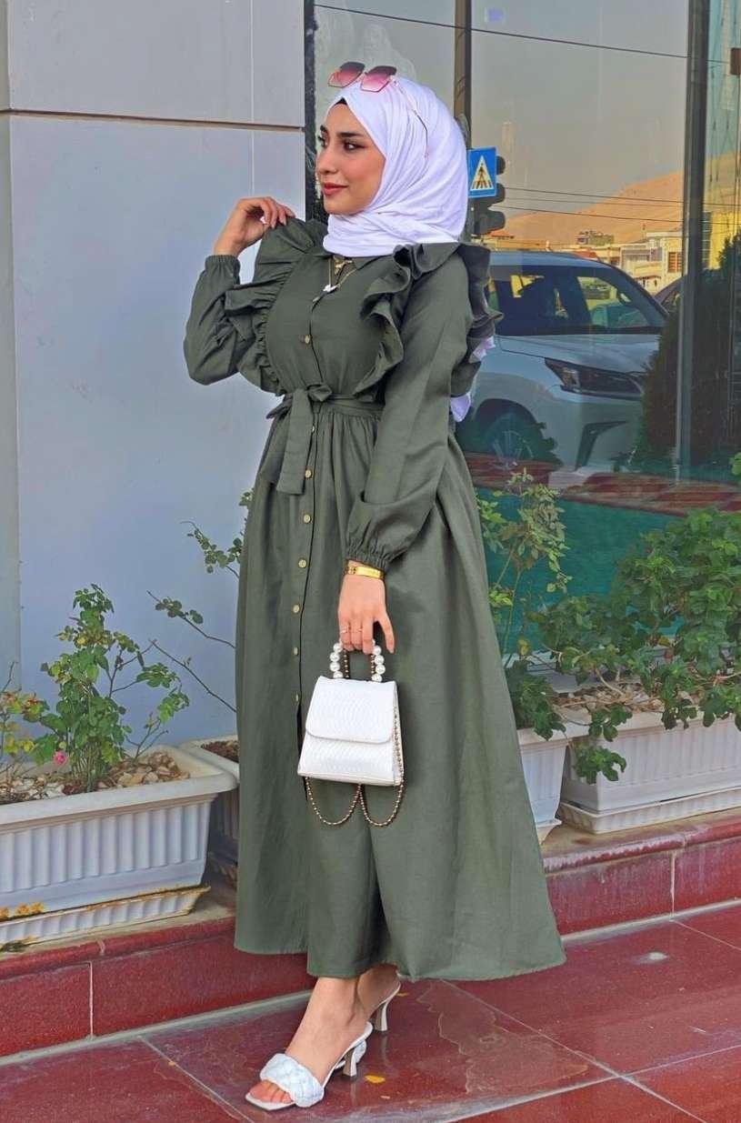 بالصور.. ملابس محجبات باللون الأخضر لليوم الوطني السعودي