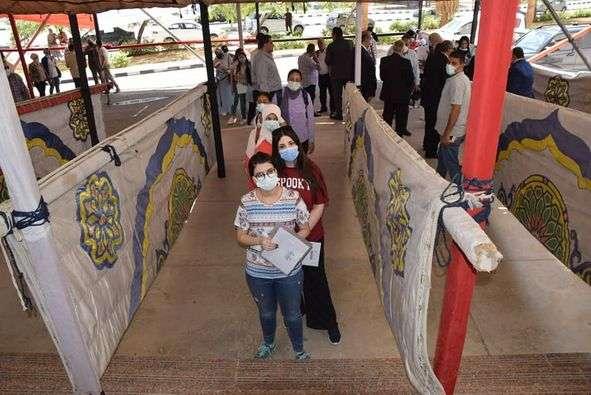 تطعيم 12285 من طلاب جامعة حلوان بالمصل المضاد لفيروس كورونا