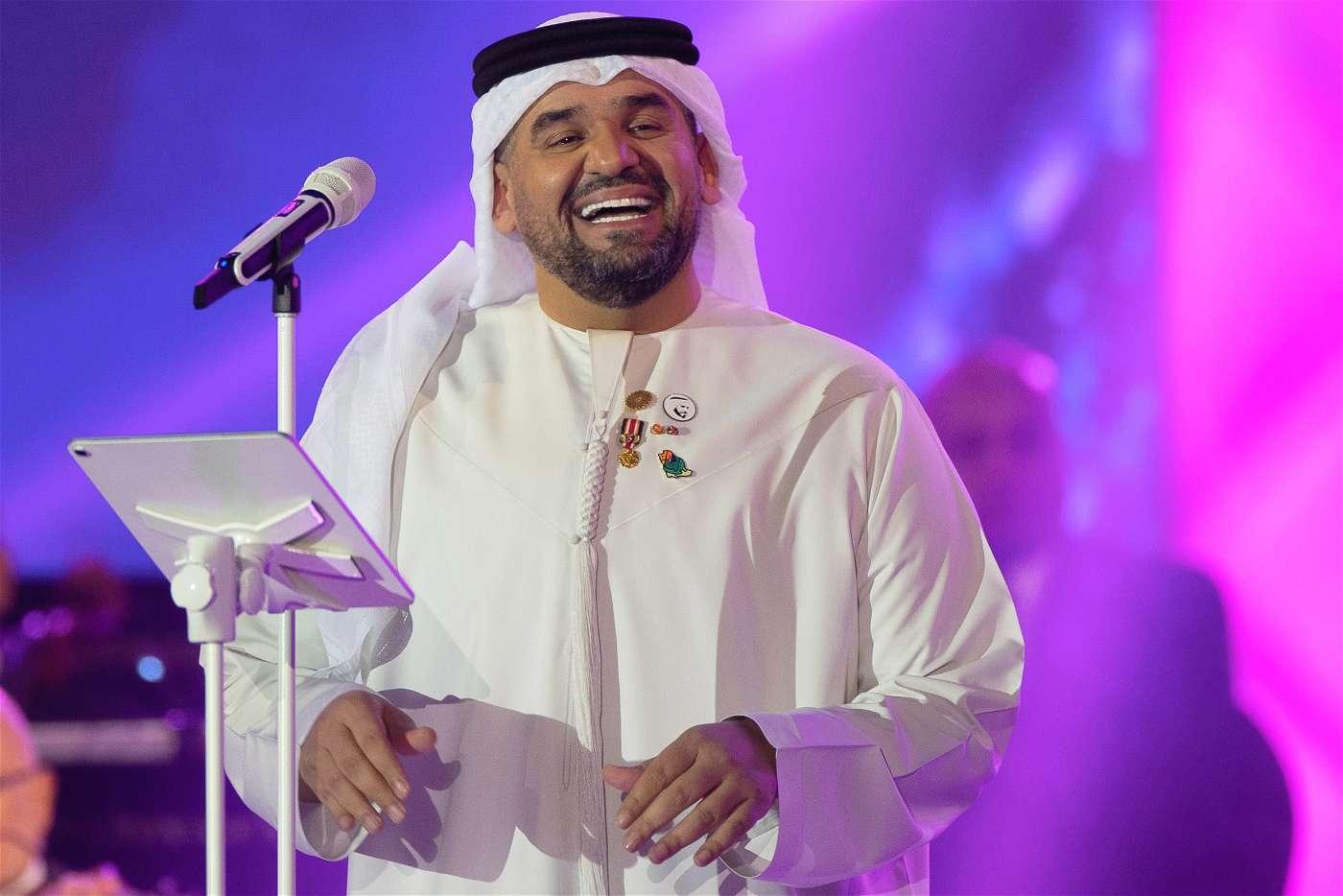 بالصور..حسين الجسمي طرب السعوديين إحتفالاً باليوم الوطني ال91 للمملكة