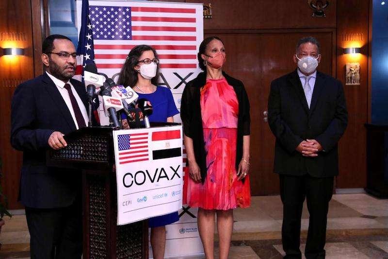 أمريكا تتبرع لمصر بأكبر شحنة لقاح علي مستوي التبرعات الخارجية
