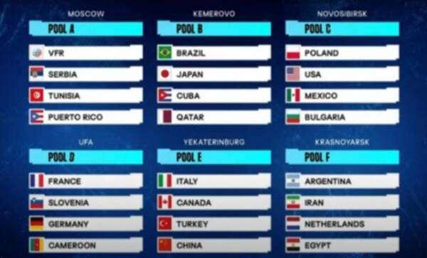 مصر في مجموعة نارية بكأس العالم للكرة الطائرة